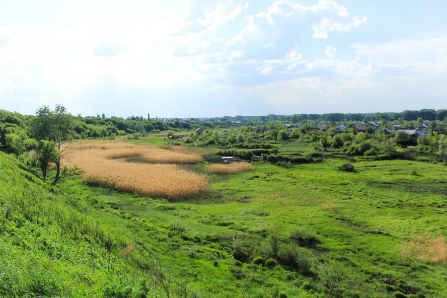 Здесь в первой половине XIX века протекала река Сакмара. Старица Сакмары. Высохшее Подмогильное озеро.