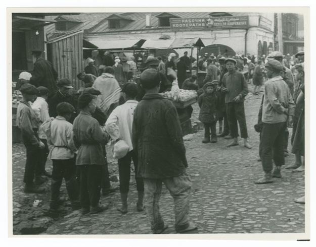 Оренбургский базар. Фотография 1924 года