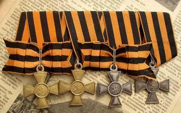 Георгиевский крест - высшая военная награда Царской России