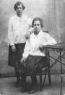 Ольга Дмитриевна Никифорова (Мельникова) с подругой. Снимок на 16 летие. 1929 год