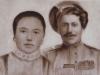 Казак Воробьев Андрей Иванович (их сын) 1892 г.р. с женой Александрой Васильевной