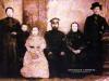 Семья Воробьевы. Снимок сделан примерно в 1917 - 1919 годах.
