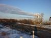 Вид на Берды со стороны железной дороги
