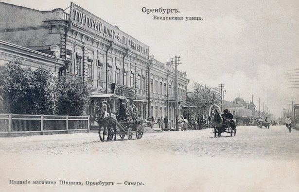 Торговый дом Федора Ипатьевича Панкратова на ул. Введенской (совр. ул. 9 Января, 40 и 42).