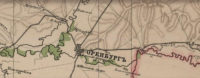 Поселок Бердский (Берды) на фрагменте специальной карты Европейской России 1871 год