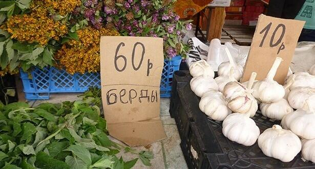 """Прошли годы, но и сейчас овощи, выращенные на бердинских подворьях, пользуются хорошим спросом у горожан. Надписи на огуречных ценниках """"Берды"""" служат своеобразным знаком качеством."""