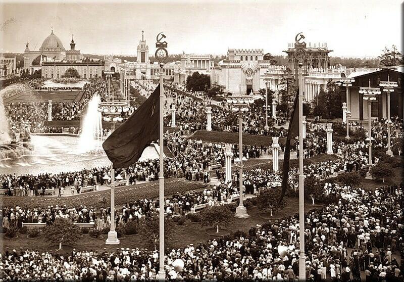 1 августа 1939 год. Открытие ВСХВ (Всесоюзная сельскохозяйственная выставка) в Москве.
