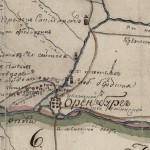 Фрагмент карты Оренбургской губернии 1802 года