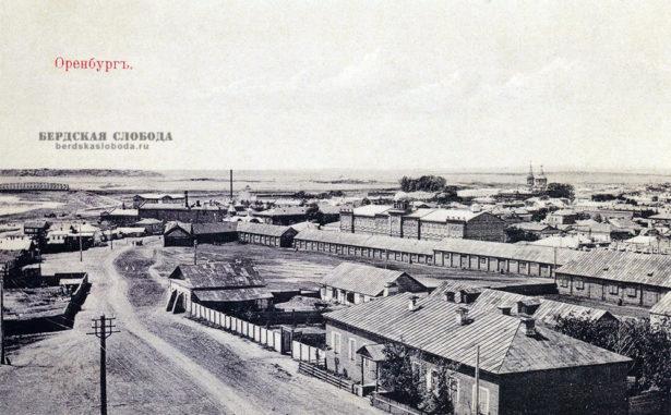 На снимке, сделанном с колокольни Введенской церкви в начале XX века, открывается вид на Набережную улицу.