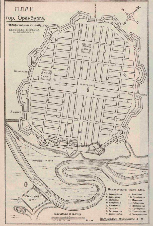 План города Оренбурга