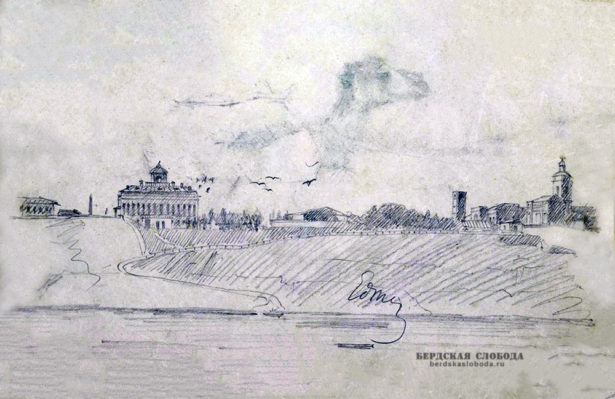 Вид Оренбурга из Зауральной рошт, Тадеуш Корзон (1839-1918)