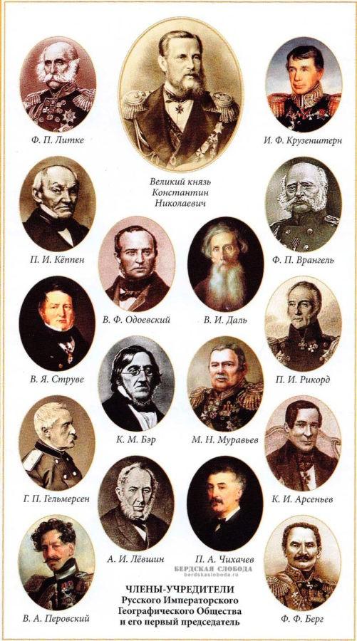 Учредители Русского географического общества