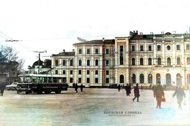 Железнодорожный вокзал Оренбурга. Фото 1967