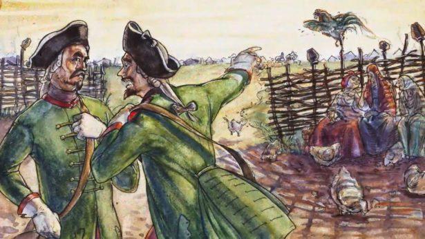 Капитан Стинин и лейтенант Кашенцов были товарищами, жили по соседству и одновременно в 1764 году обнаружили, что их жены исчезли.