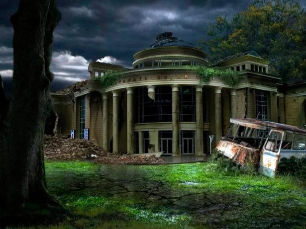 Руины Оренбургского драматического театра