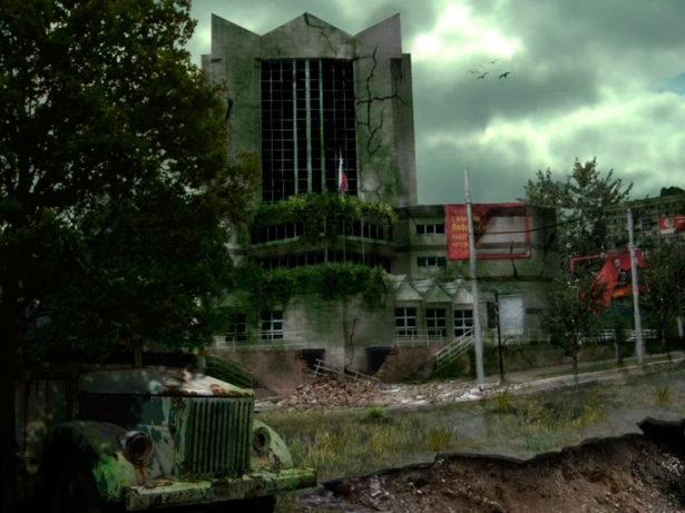 Заброшенное здание ТНК в Оренбурге