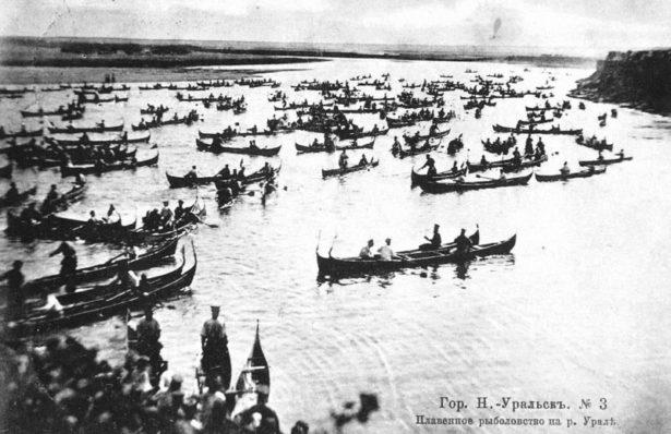 Плавенное рыболовство на Урале. Фото рубежа XIX-XX вв.