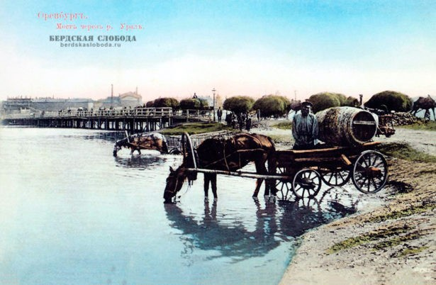 Водовозы у Урала. Оренбург. Фото рубежа XIX-XX вв.