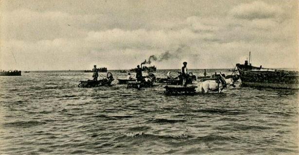 Плотвинская пристань в Гурьеве. Фото рубежа XIX-XX вв.