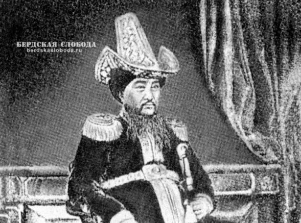 Султан-правитель Восточной части Орды, полковник Ахмет Джантюрин (1810-1851).