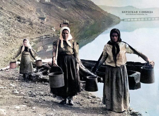 Крестьяне. Фото этнографа Михаила Круковского, сделанное в 1908 году во время экспедиции по Оренбургской и Уфимской губерниям