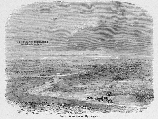 Вид степи близ Оренбурга