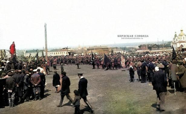 Челябинск. Отправка добровольцев на польский фронт, 1920 год.