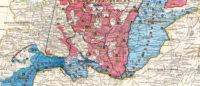Карта земель Оренбургского, Уральского и Башкирского казачьих войск 1858 года