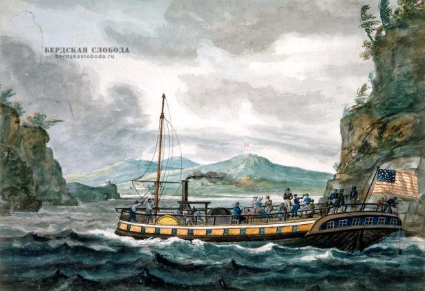 Путешествие на пароходе по реке Гудзон, Павел Свиньин, 1812 г