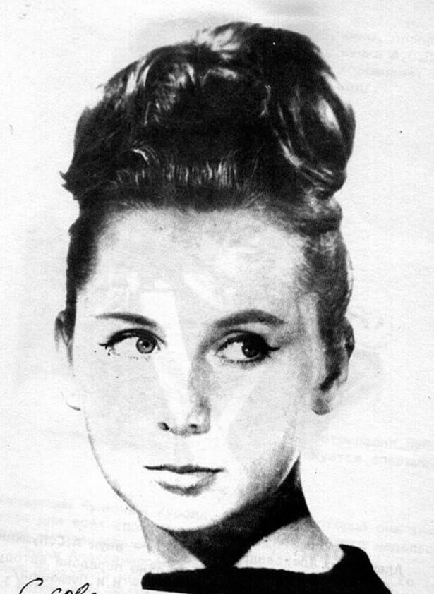 Наталья Игоревна Пушкина, праправнучка А.С. Пушкина. 1964 год