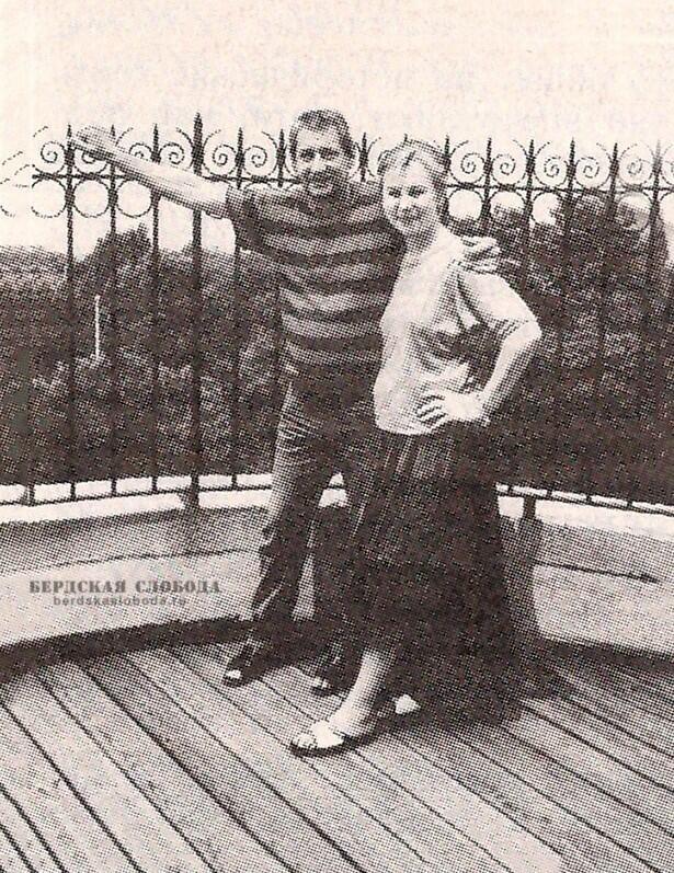 Михаил Георгиевич и Наталья Игоревна Пушкины, праправнуки поэта. Нью-Йорк, 1988 год