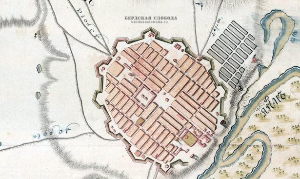 """В сетевую библиотеку """"Бердская слобода"""" добавлен План города Оренбурга и его окрестностей, составленный после 1774 года."""
