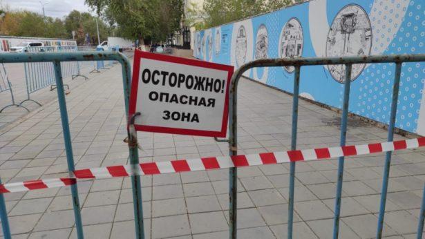 Перекрытая территория Фото: Администрация Оренбурга